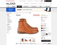 Aldo.com - product page redesign (DEMO)