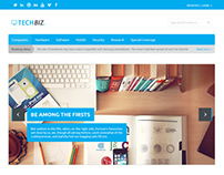 TechBiz - Homepage Design