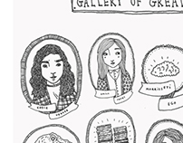 "Self-Initiated Project - ""Gallery of Greats"" Print"