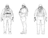 Character design US Navy SEAL Hector from RUBICON.
