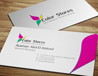 Color Stores Logo and Business Card