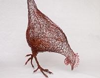 Feeding Hen (2011) -Wire.   Commission