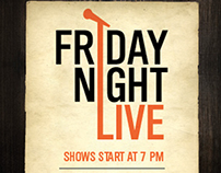 Friday Night Live Table Card