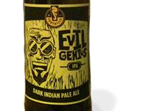 Evil Genius IPA | Block Print Design