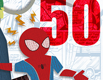 Spider-Man 50th Anniversary | Magazine Layout