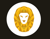 Lion cubism logo - My new personal logo