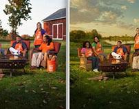 Orange Magazine Cover Photo and Retouch