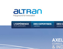 ALTRAN - Web design