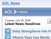 AOL iGoogle Gadgets