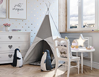 children's room for little princess виз детской