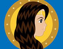 """Art of Wonder"" Wonder Woman Film Illustration"