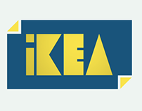 Ikea rebrand logo animation