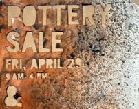 Anderson University Pottery Sale Poster