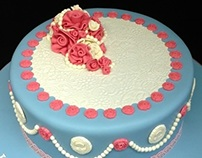 Vintage Cameo and Rose Cake