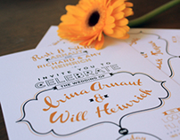 40's Inspired Wedding Invitations