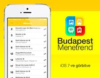 BpMenetrend iOS 7-re görbítve