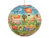 Happy Food Town 2 Paper Lantern, BlueQ, USA