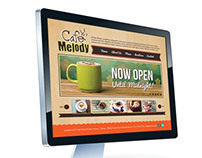 Cafe Melody Website & Logo Design