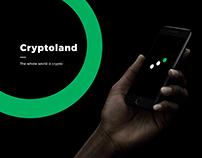 Cryptoland :: app and logo for crypto