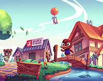 Animal crossing Illustration