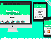 icenology free template flat website