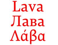 Lava, a magazine typeface