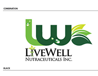Livewell Nutraceutical Corporate Logo Study 1