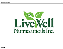 Livewell Nutraceutical Corporate Logo Study 3