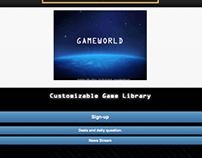 "My ""Gameworld"" Mobile App Screenshots with live link"