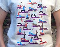 'Yoga Class' print t shirt