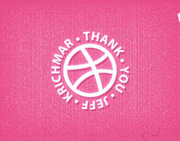 Dribbble debut Thank you Jeff (animated gif)