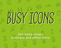 Busy Icons: Hand-drawn Office and Business Icons