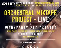 RWD - Orchestral Mixtape Project - Invitation / E-Card