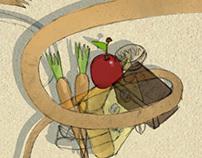 Children's Illustration - Rat in the store