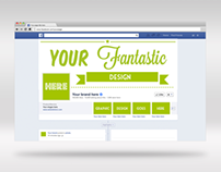 Facebook Photoshop cover mockup
