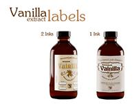 1 ink 2 inks Vanilla bottle labels