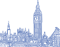 One line Illustration LONDON!