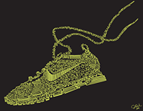 "One Line Illustration. ""Nike Flyknit"""