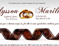 Convite de Casamento Alysson e Marília
