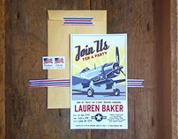 Vintage Airplane Invitations