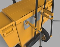 Concept urban cleaning trolley