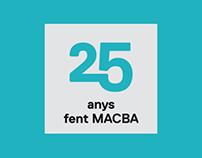 Logotipo 25 aniversario del MACBA