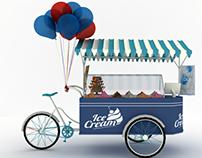 Ice Cream Cart 3dMax