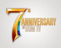7th anniversary of Hum tv logo design