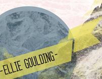 Ellie Goulding US Tour Poster Design