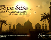 Hoarding Design of Shan - e - Mughalia hotel