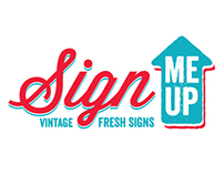 Sign Me Up logo design