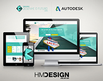 Autodesk - Desenhe seu futuro - UI/UX - Website Layout