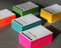 GM' - Letterpress - Business Cards
