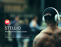 Stellio- Fictional Music Player App UI/UX Design